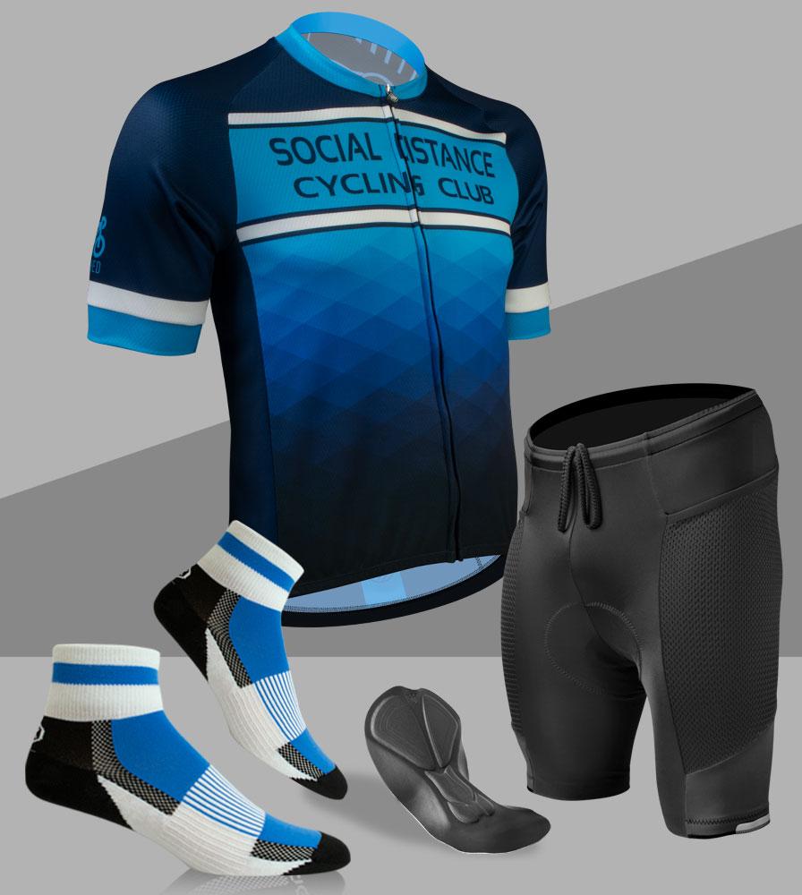 Social Distance Cycling Club Royal Blue Kit