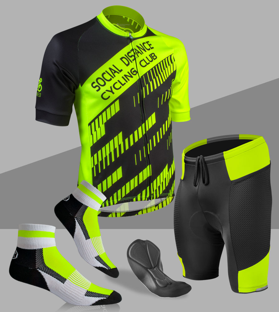Social Distance Cycling Club Safety Yellow Kit