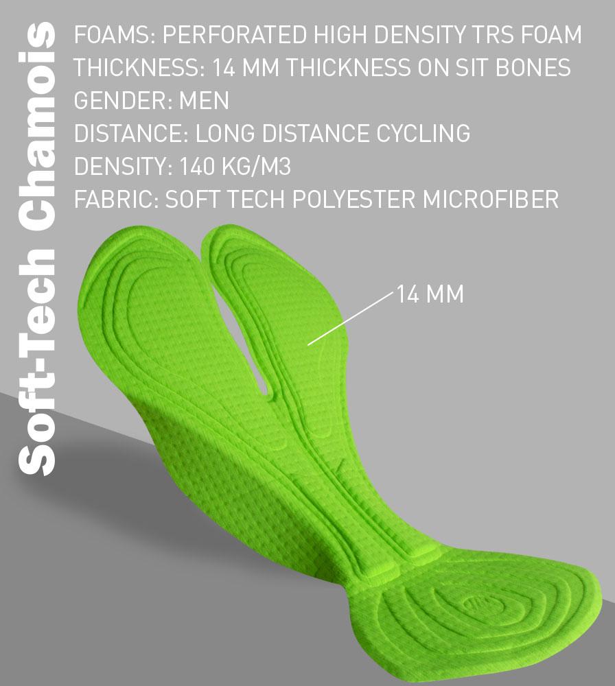 Tech Mesh Cycling Gym Shorts Soft Tech Chamois Pad Specifications