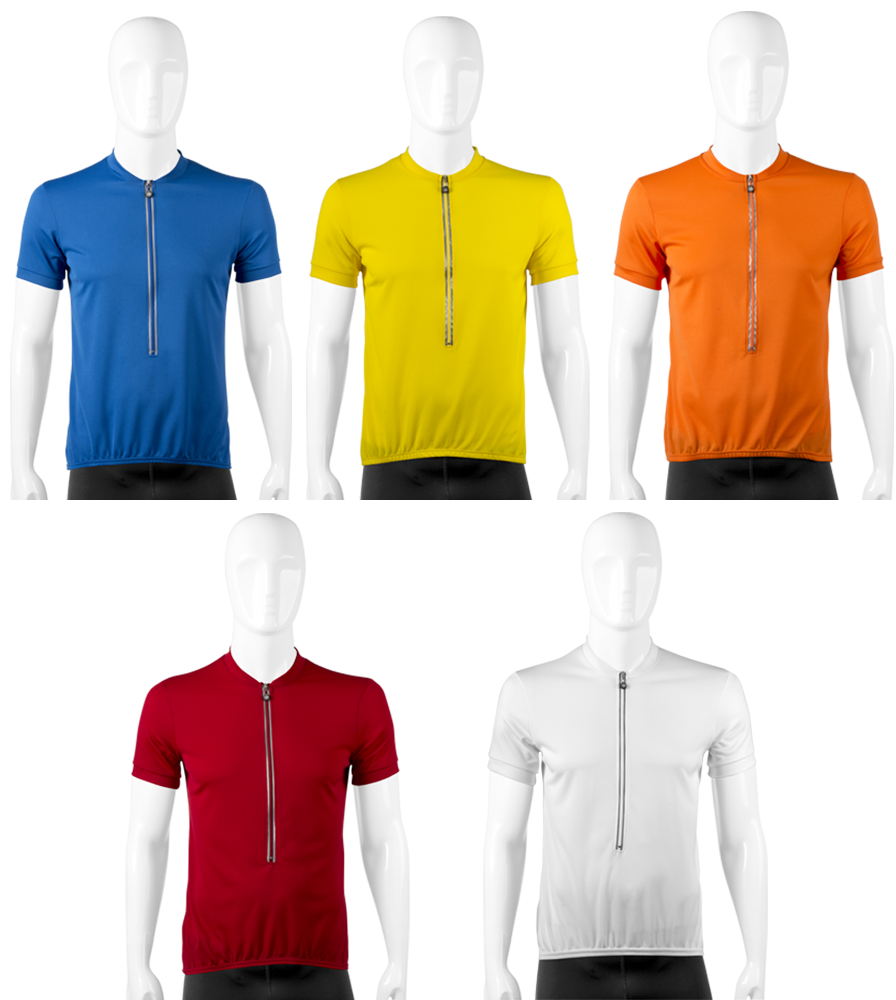 Unisex Solid Color Bike Jerseys