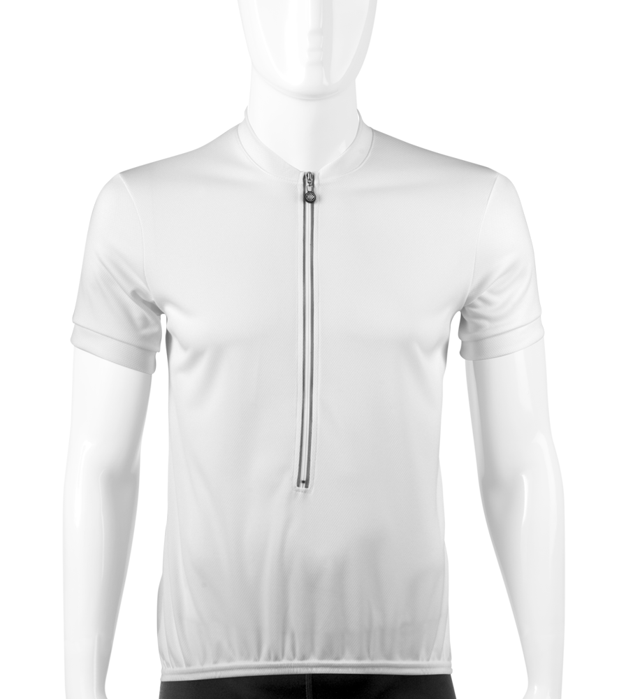 White Solid Color Bike Jersey