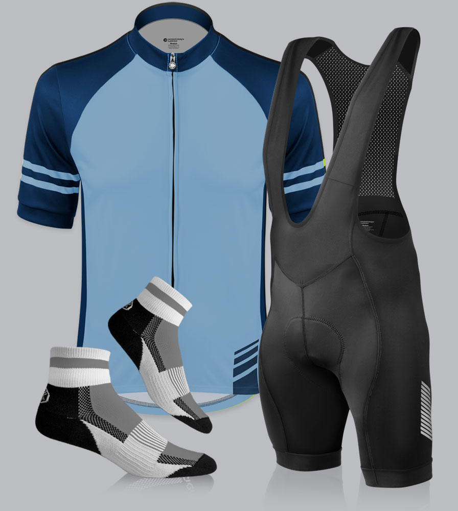 Navy Blue Classic Cycling Jersey Kit