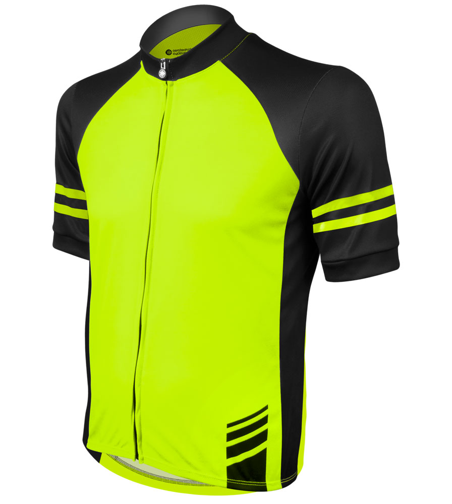 Men's USA Classic Safety Yellow Sprint Cycling Jersey