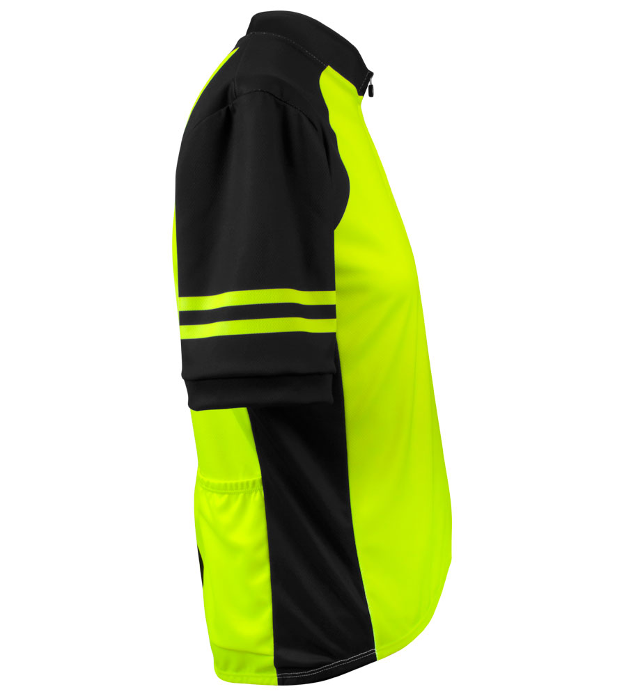 Men's USA Classic Safety Yellow Sprint Cycling Jersey Side View