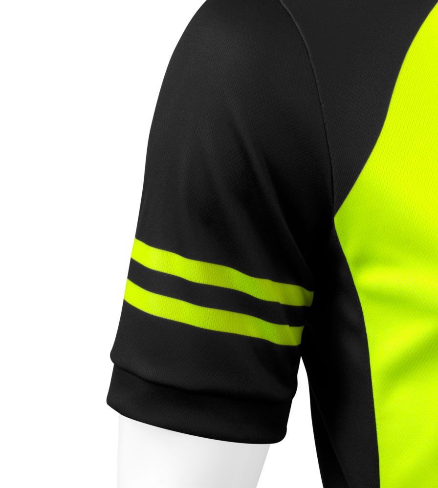 Men's USA Classic Safety Yellow Sprint Cycling Jersey Sleeve Detail