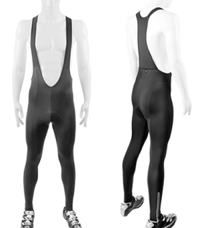 Men's Cycling Padded Bib-Tight Front and Back View