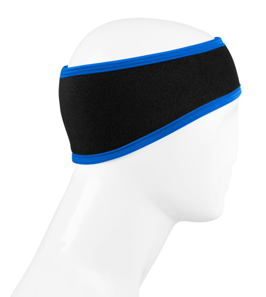 USA Classic Cold Weather Headband in Royal Blue and Black Side View