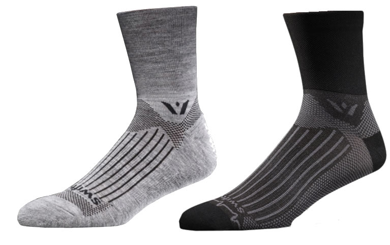 Swiftwick wool cycle socks