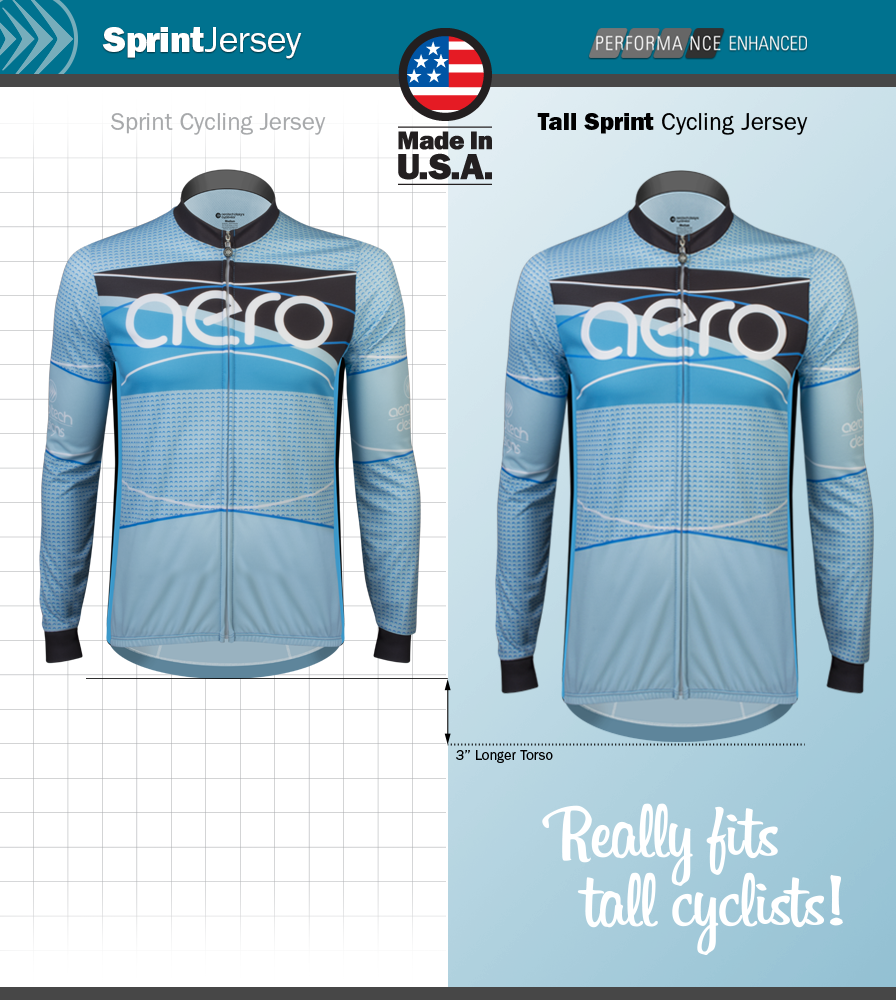Ice Detour Long Sleeve Cycling Jersey Fit