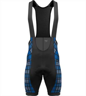 tall man plaid bib shorts