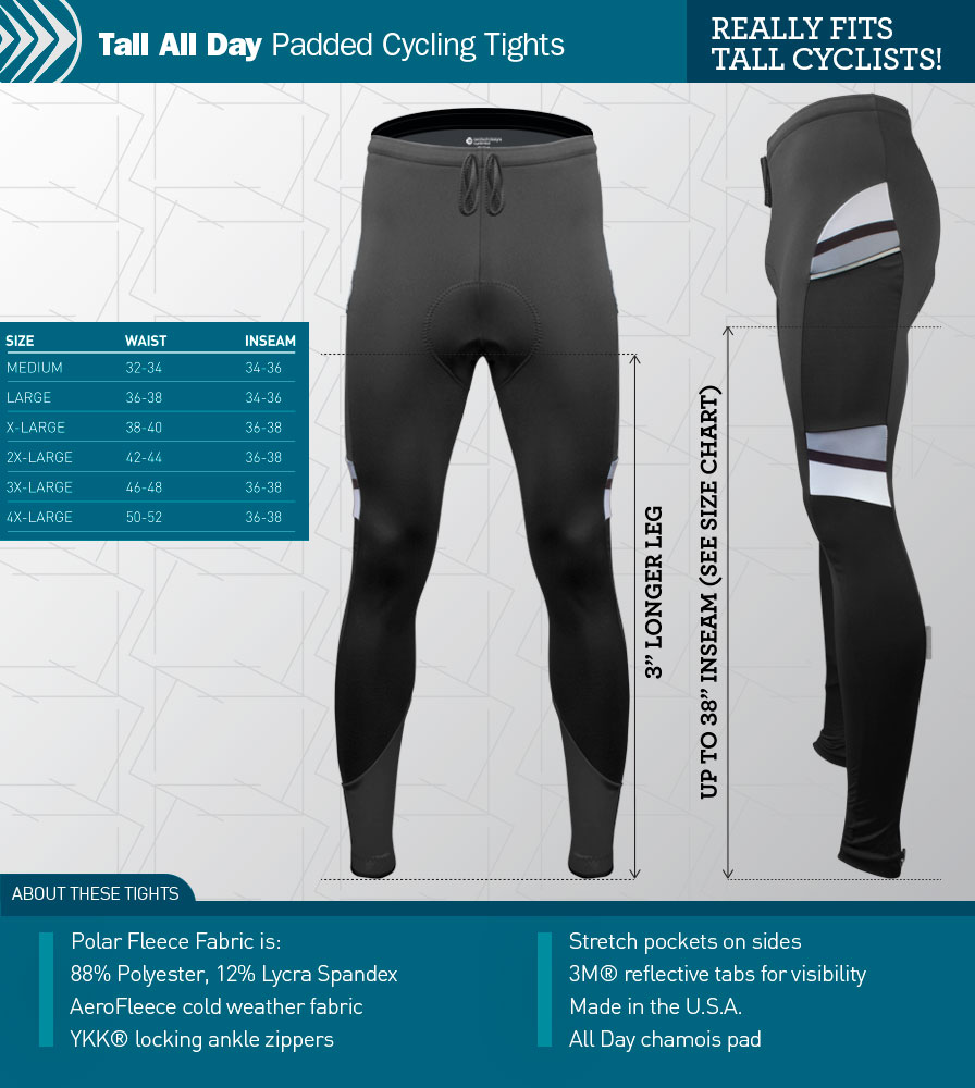 Tall Alpine All Day Cycling Tights