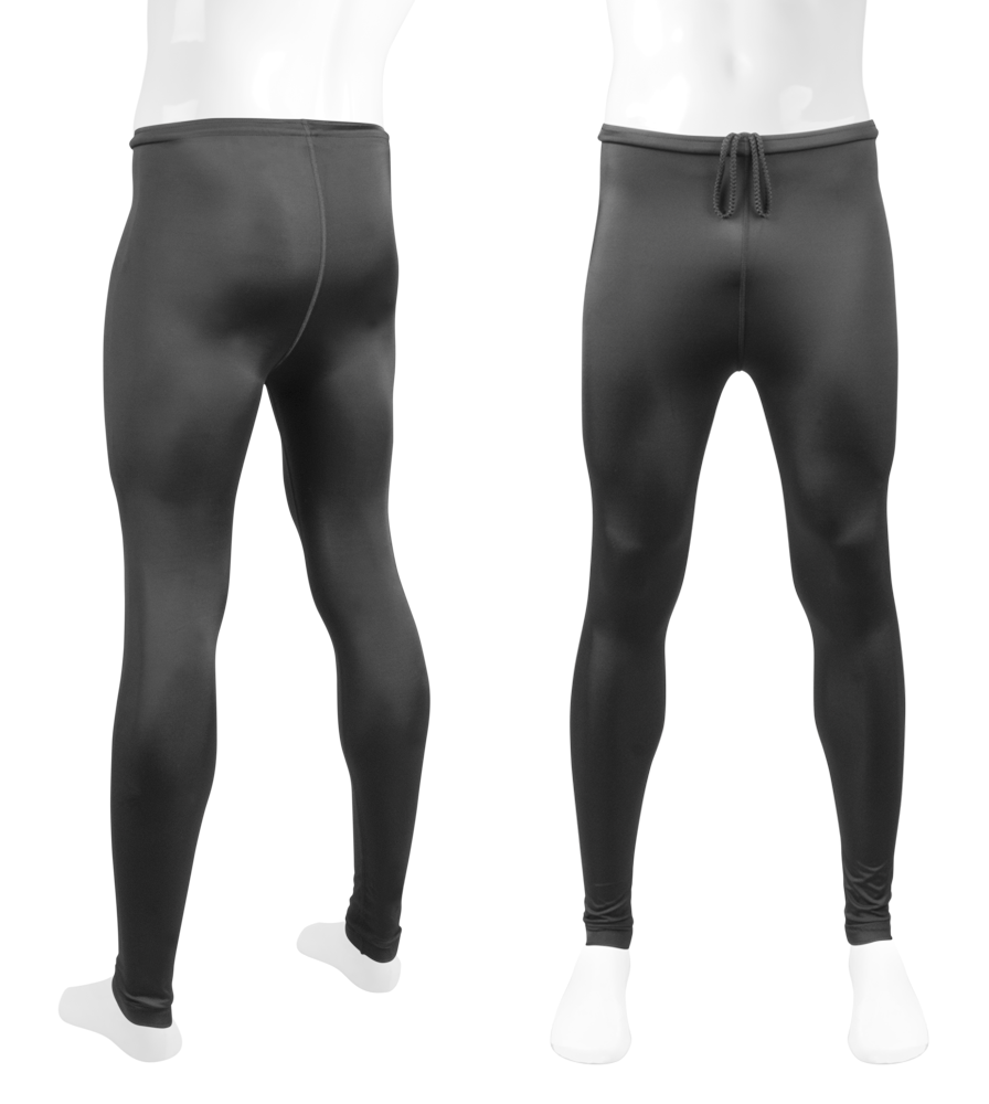 Big Man Unpadded Workout Tights Front and Back View