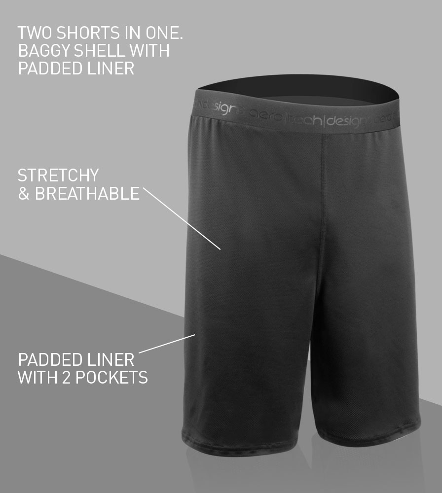 Tech Mesh Cycling Gym Shorts Front Features
