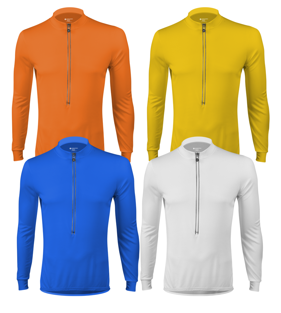 Solid Color Long Sleeve Cycling Jersey