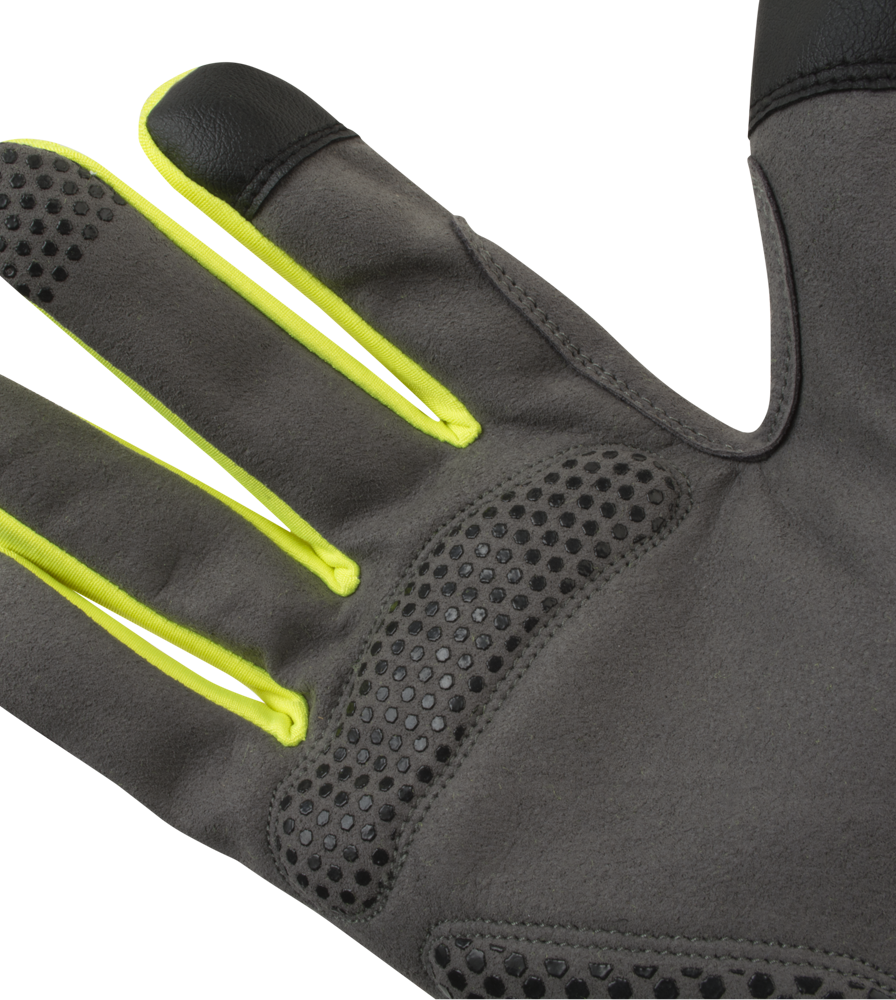 Urban Street Line Reflective Cycling Glove Finger and Palm Padding Detail