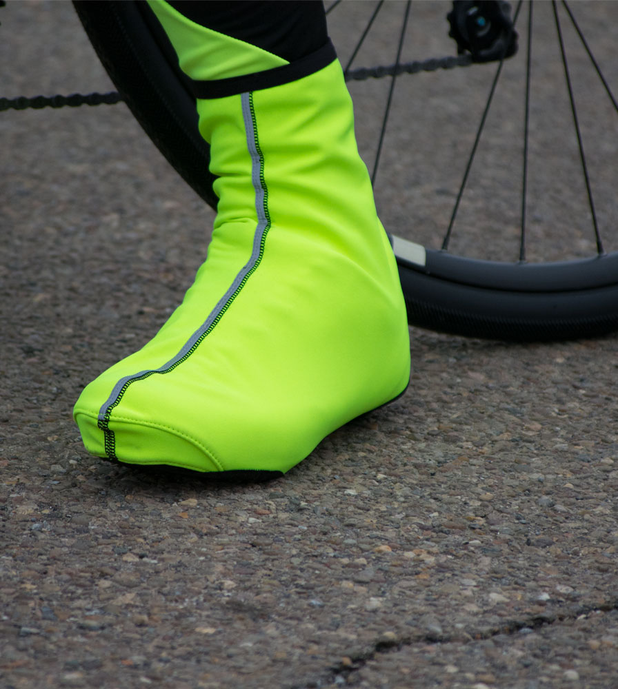 USA Cycling Shoe Cover In Action