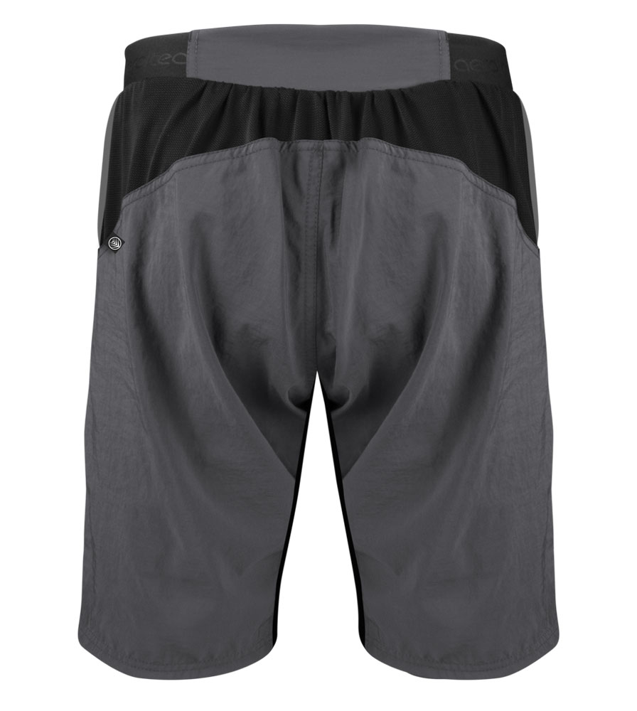 Men's USA MTB Short in Charcoal Back View