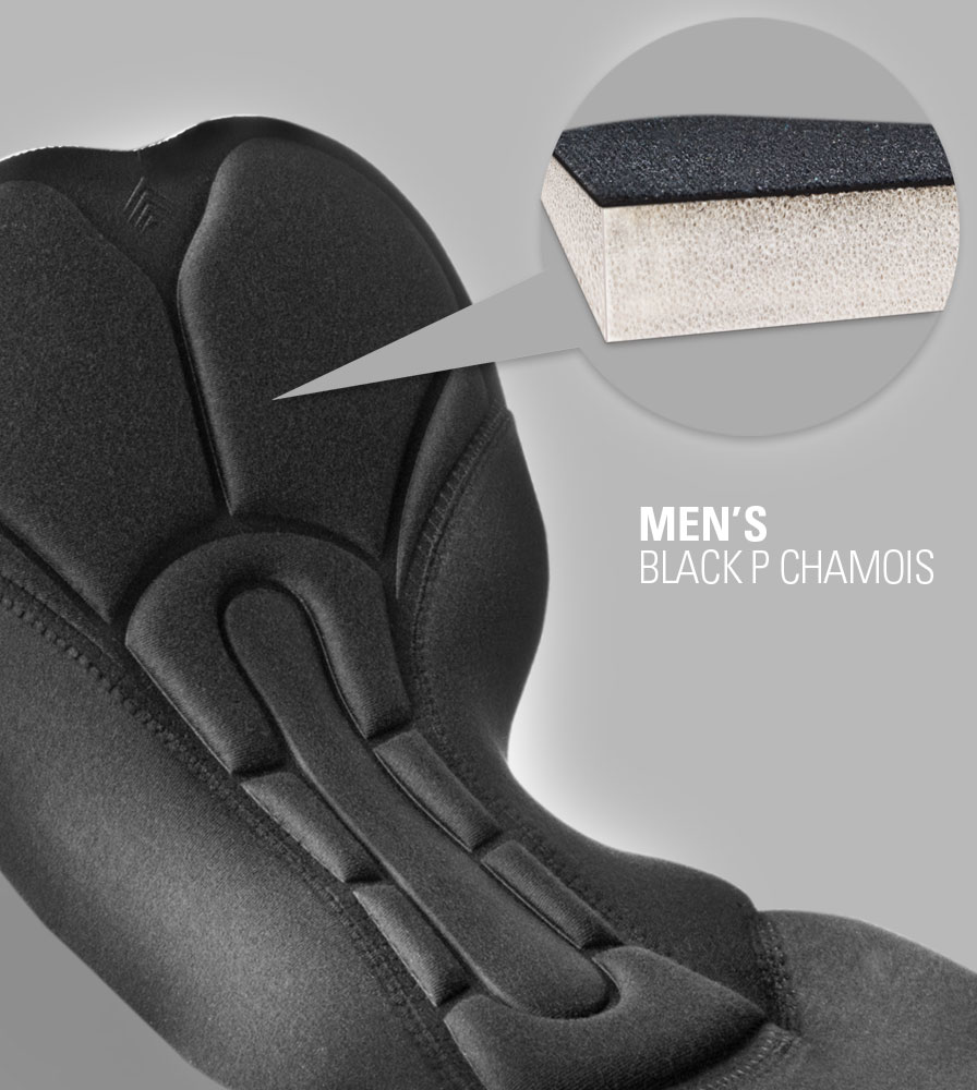 USA MTB Black P. Chamois Pad Inside Material View