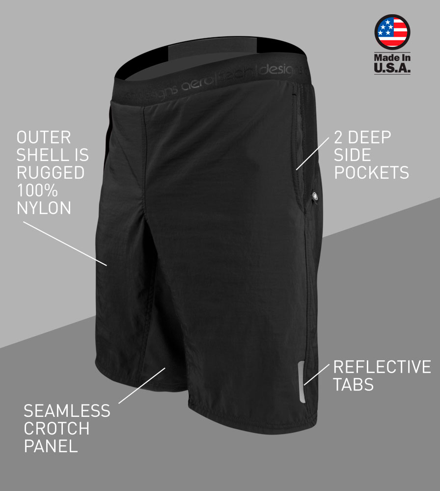 USA MTB Baggy Cycling Short Front Features