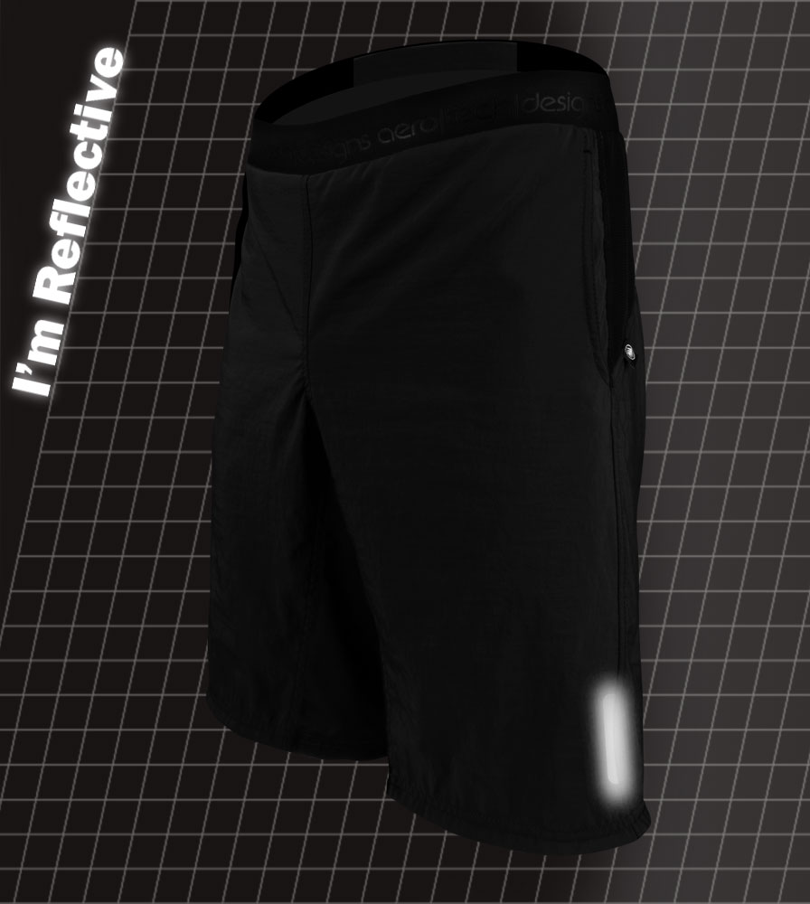 USA MTB Baggy Bike Shorts 3M Reflective Tab