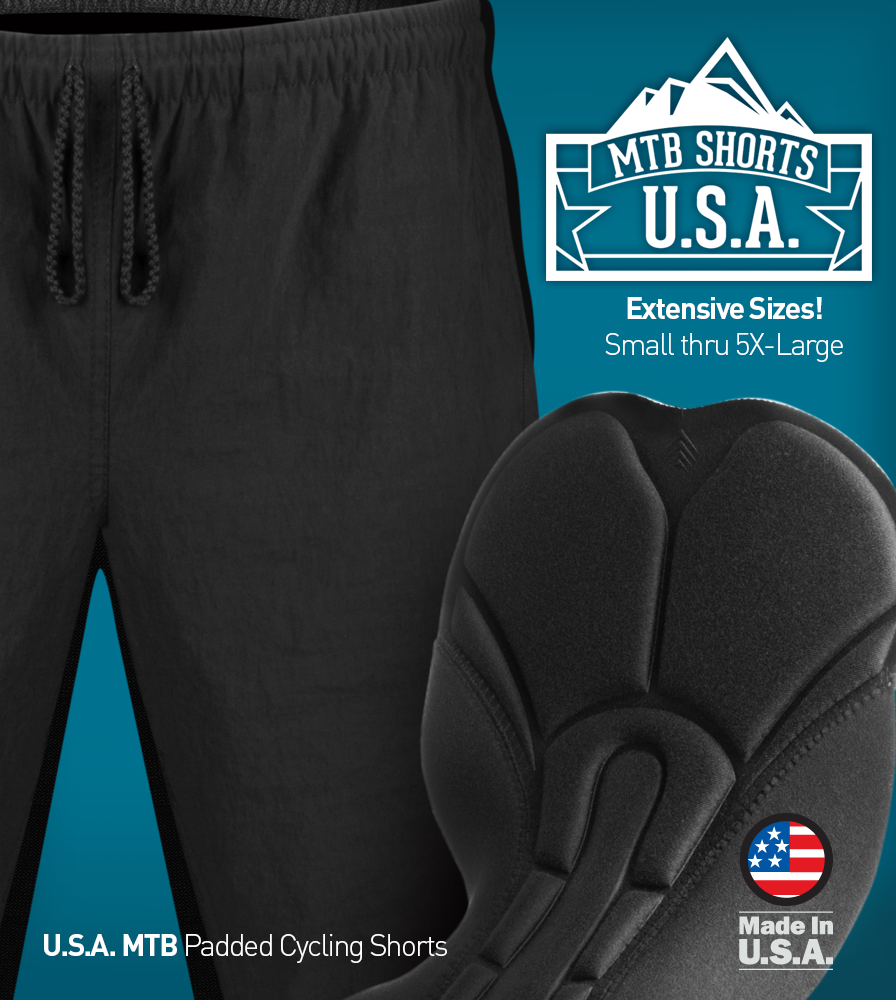 USA MTB Short Size Options