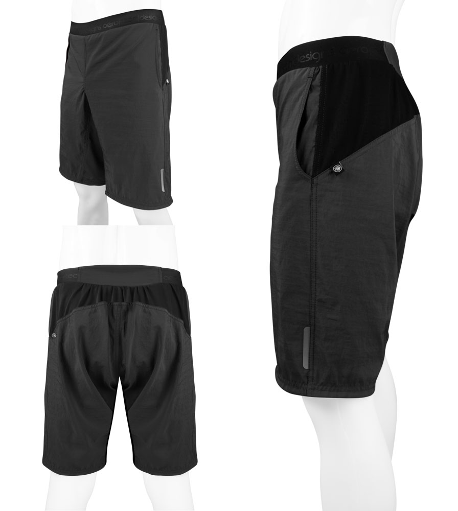 USA MTB Baggy Cycling Shorts Three Views
