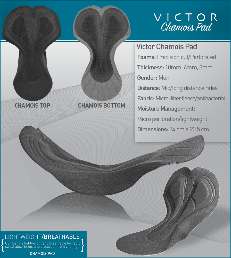 Victor Chamois Pad Features