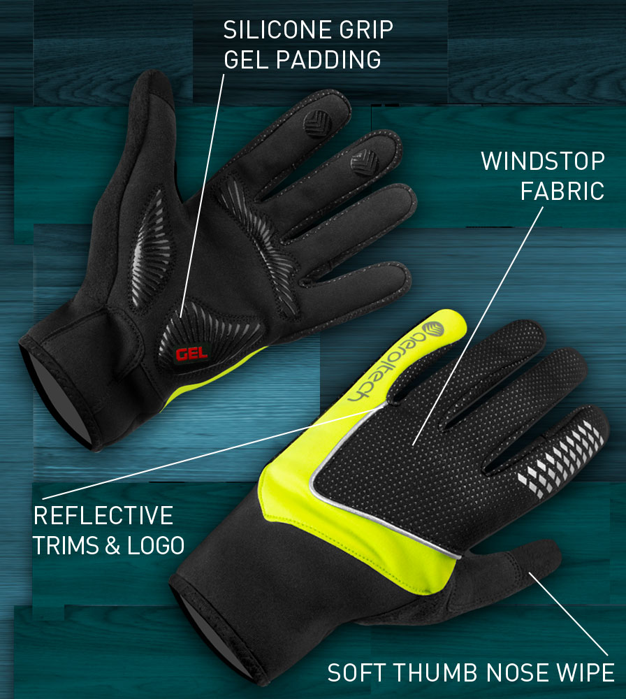 Windproof Full Finger Cycling Glove Features