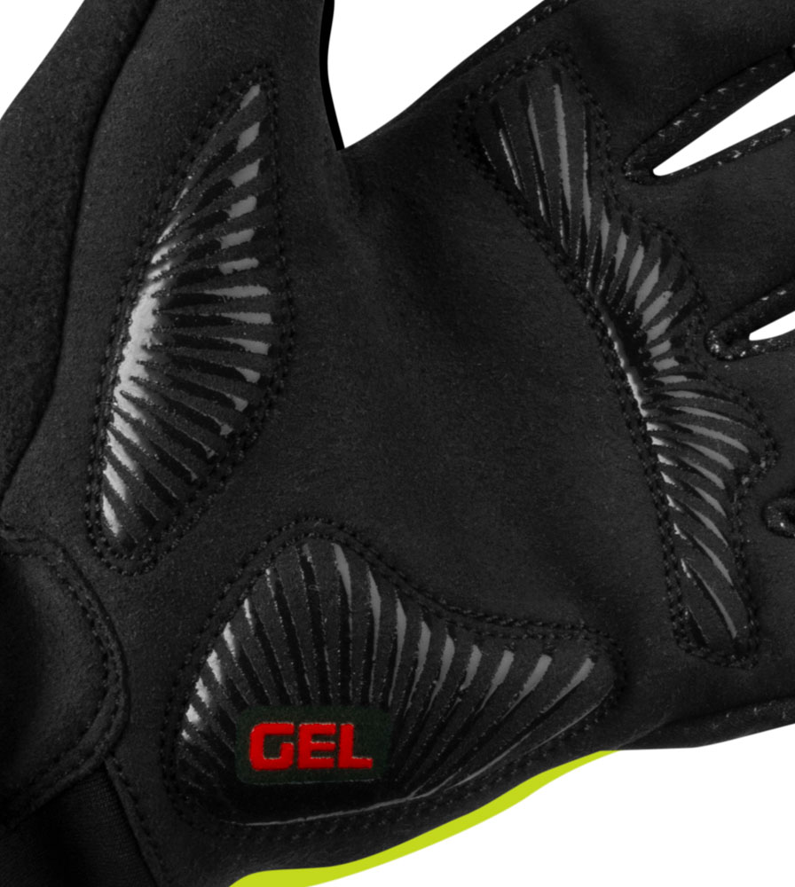 Full Finger Cycling Glove Padded Palm Detail