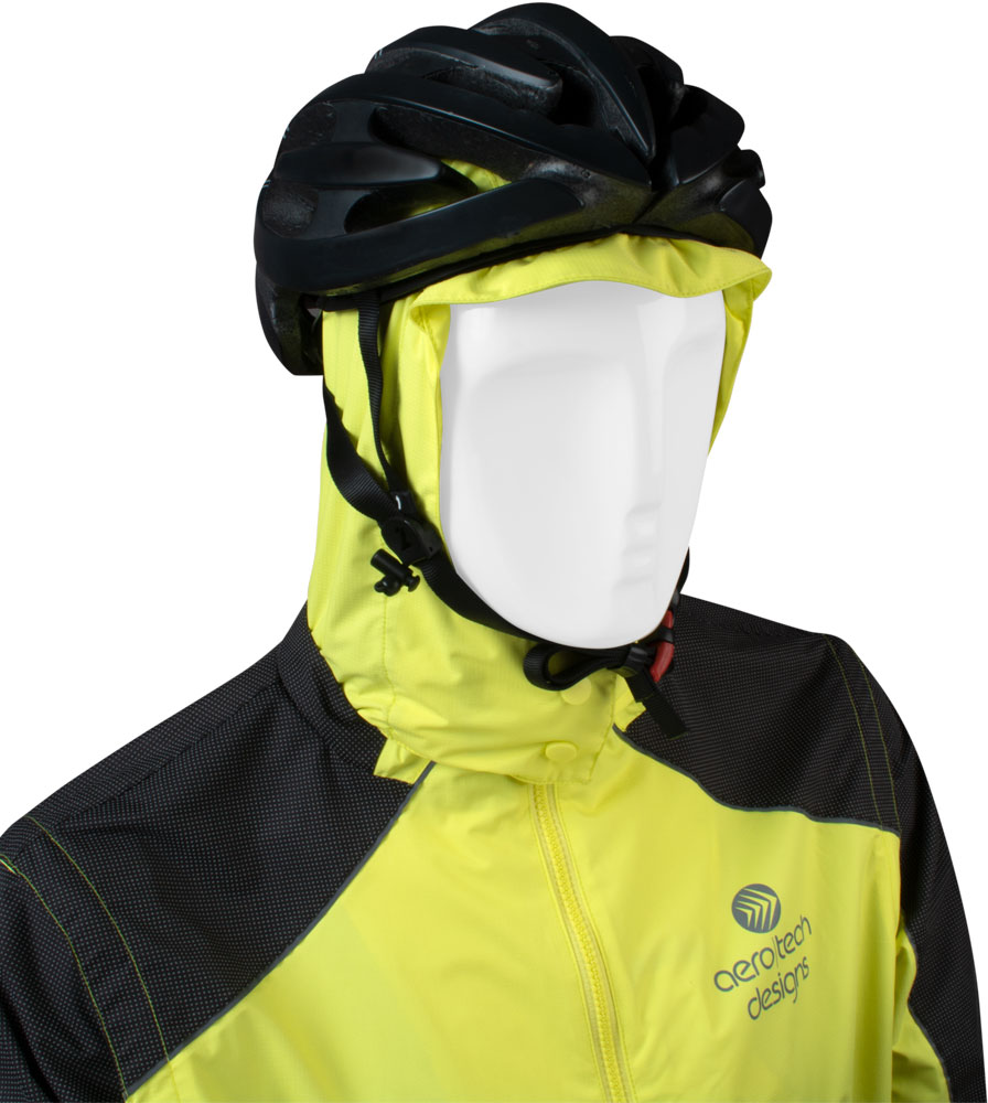 Women's Convertible Rain Coat Fits Under Helmets