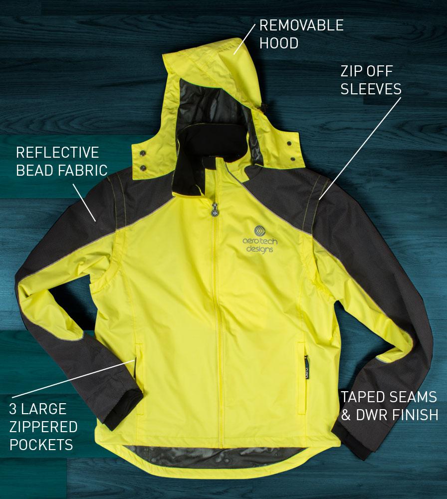Women's Cycling Rain Coat Features