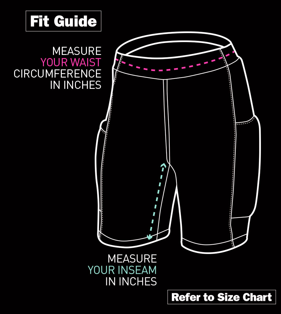 Women's USA MTB Baggy Padded Shorts Fit Guide