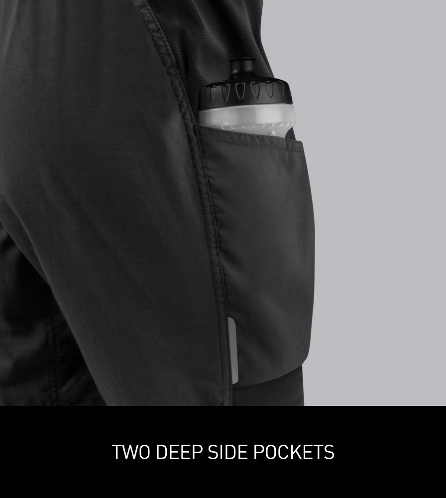 Women's USA MTB Baggy Padded Shorts Pocket Detail