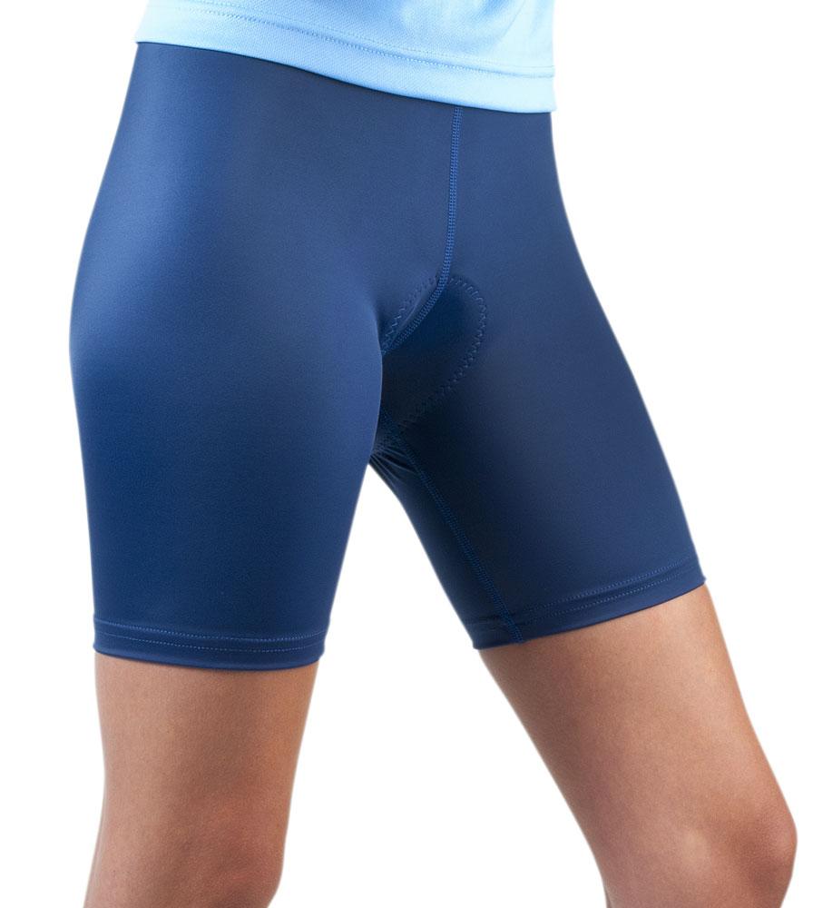 Women's USA Classic Padded Bike Shorts in Navy