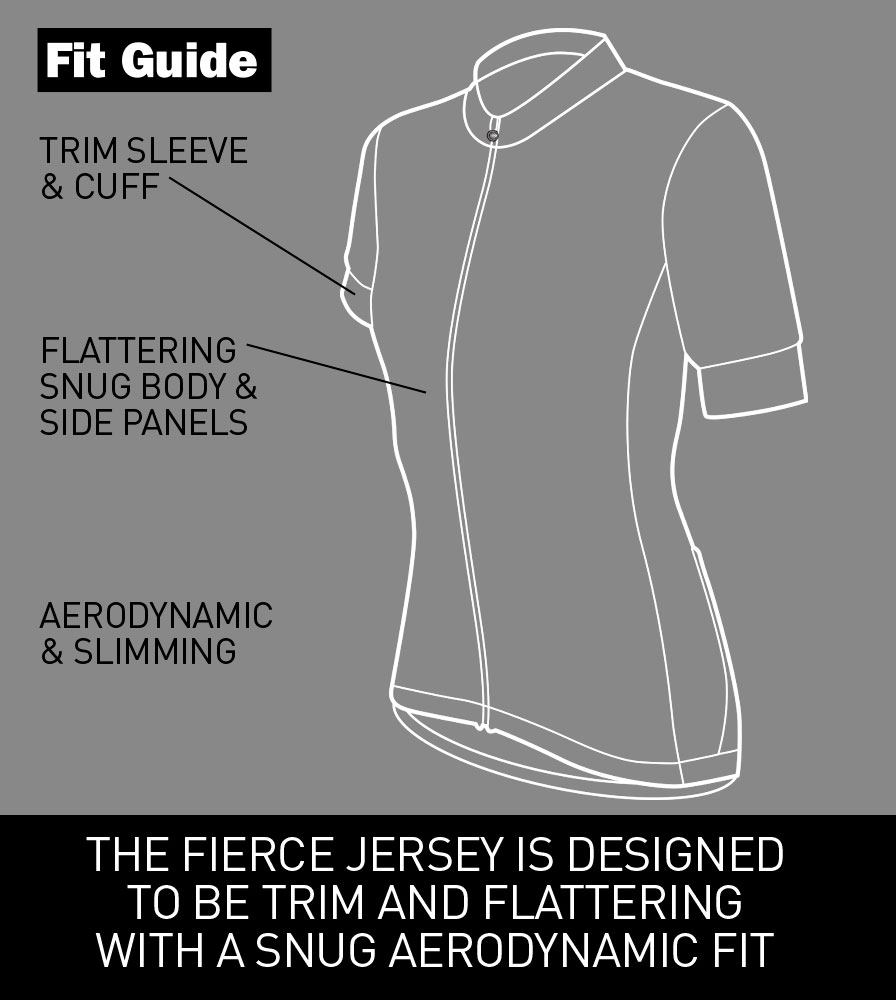 Women's Classic Fierce Pink Bike Jersey Fit Guide