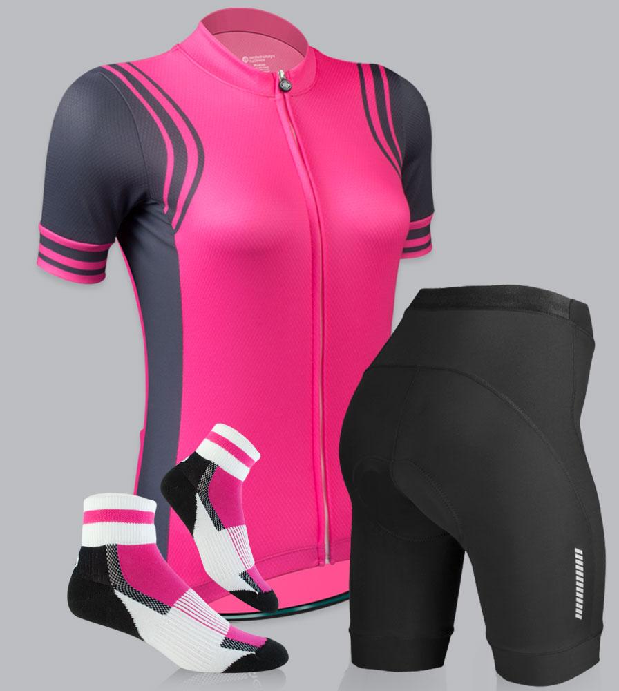 Women's Classic Fierce Pink Bike Kit