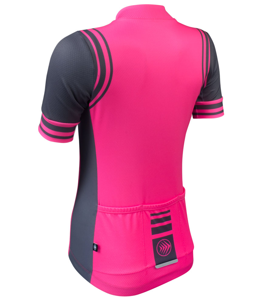 Women's Fierce Bike Jersey with 3m Reflective Trim for Safety in Low Light