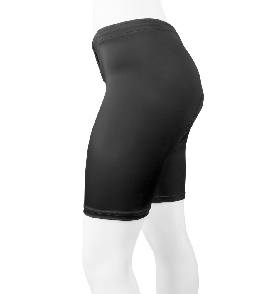 Women's Plus Size Classic Padded Triathlon Shorts Black Side View
