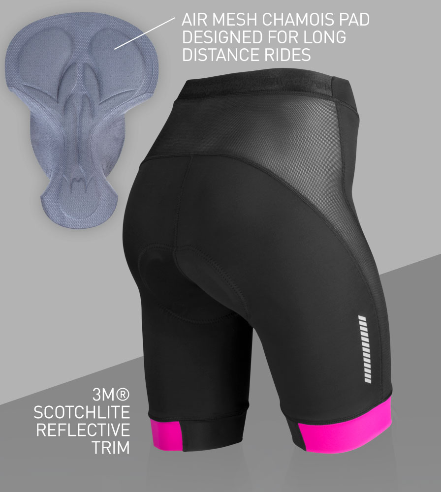 Women's Elite Padded Cycling Shorts Back Features
