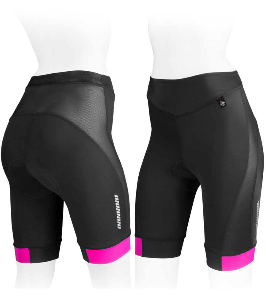 Women's Elite Padded Cycling Short Front and Back View