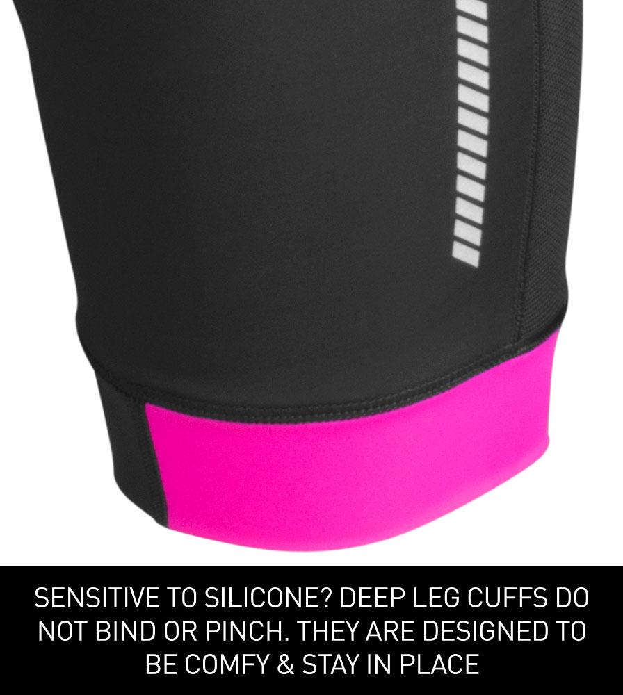 Women's Elite Padded Cycling Shorts Cuff Detail