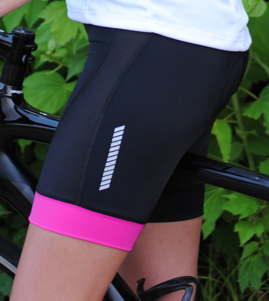Women's Elite Padded Cycling Shorts Location Model Side View