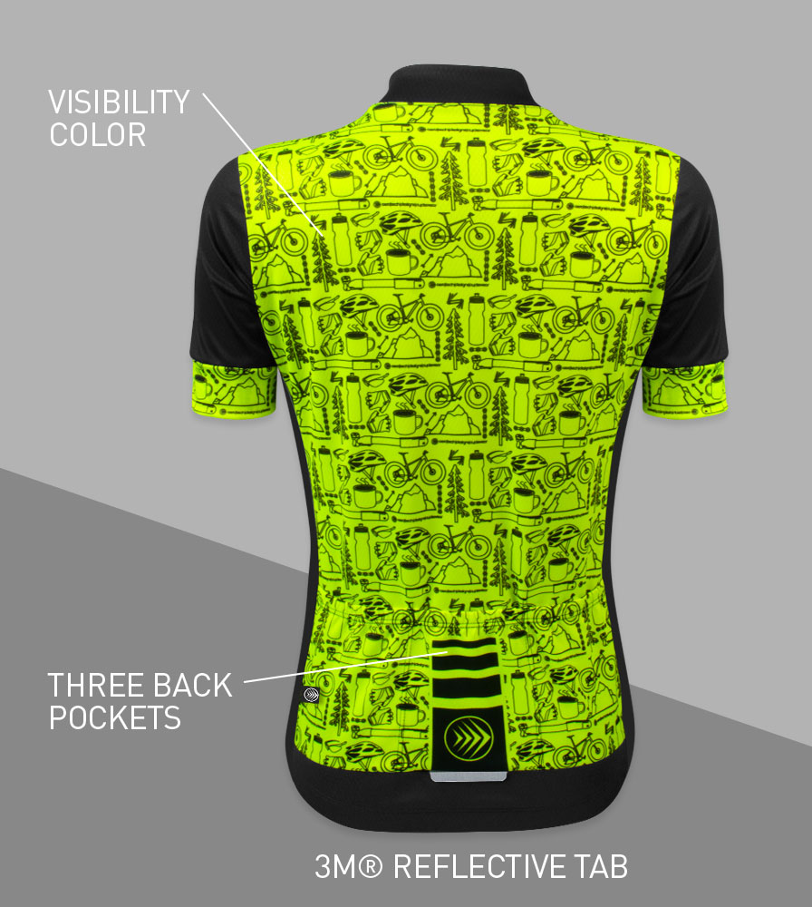 Women's Motivate Fierce Cycling Jersey Back Features