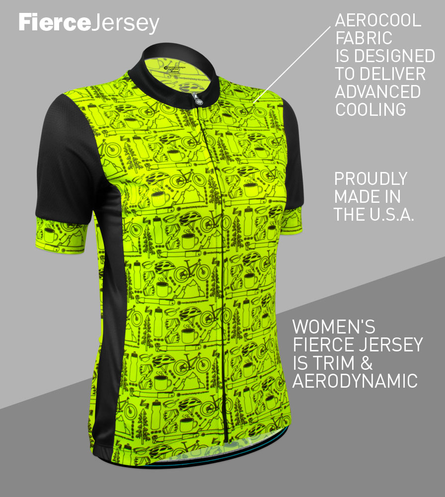 Women's Motivate Fierce Cycling Jersey Front Features