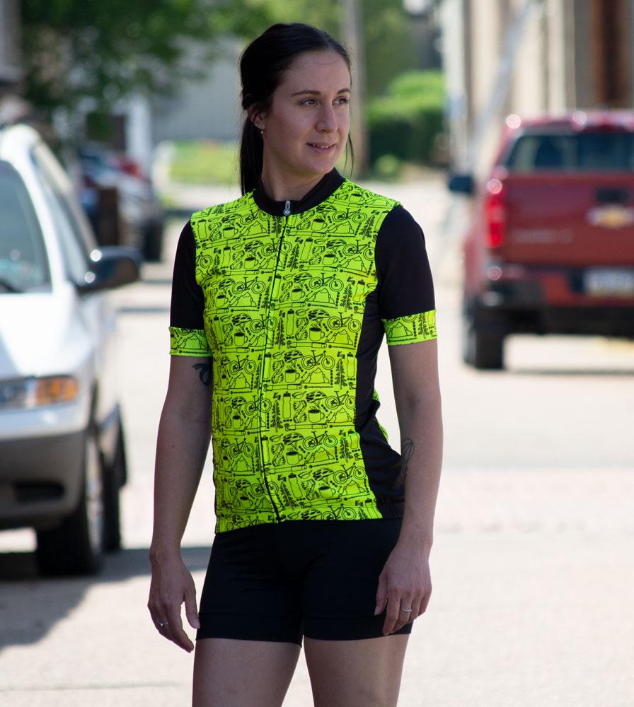 Women's Motivate Fierce Cycling Jersey