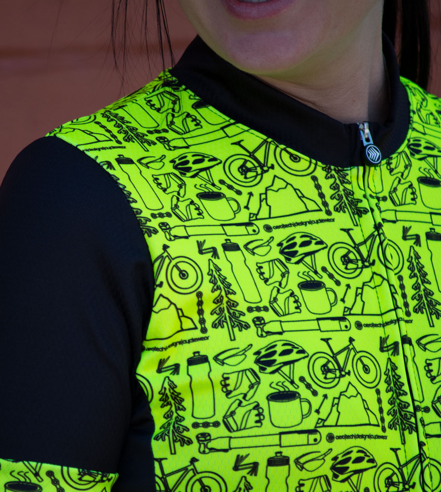 Women's Motivate Fierce Cycling Jersey Modeled Off Front View