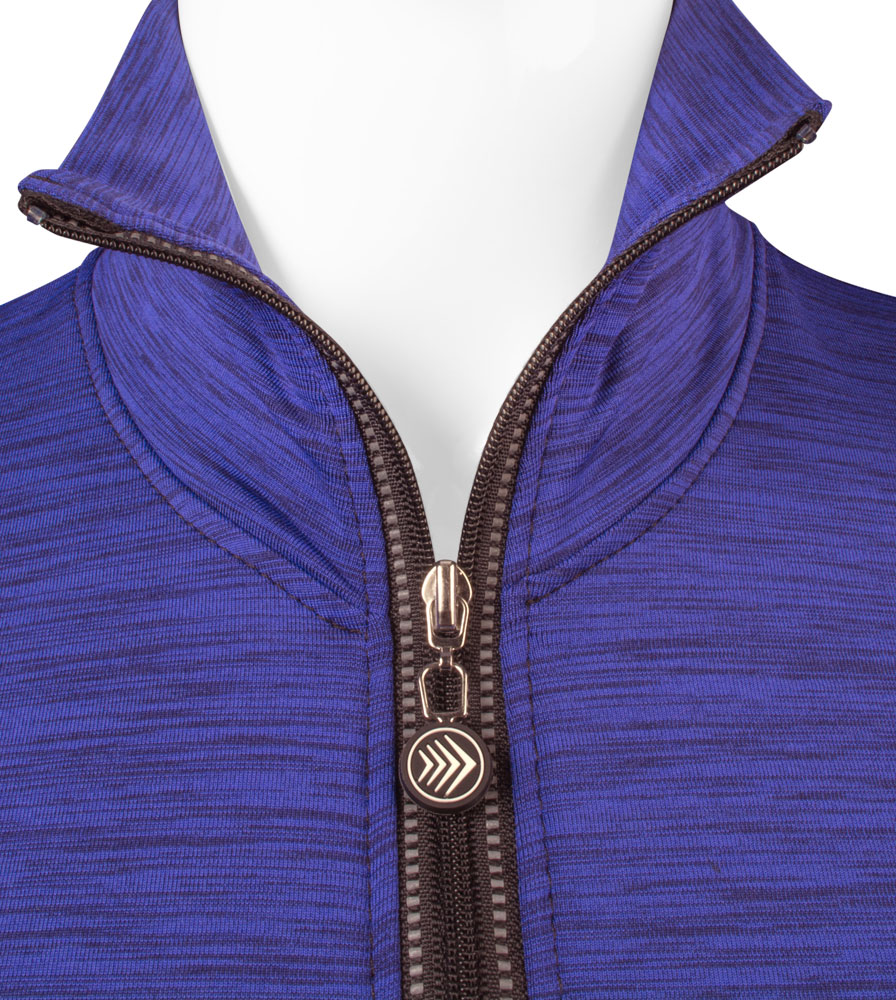Heather Tech Pull Over Collar Open Detail