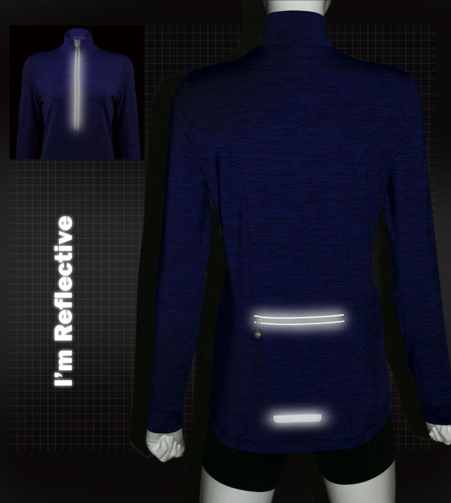 Heather Tech Pullover Reflective Accents