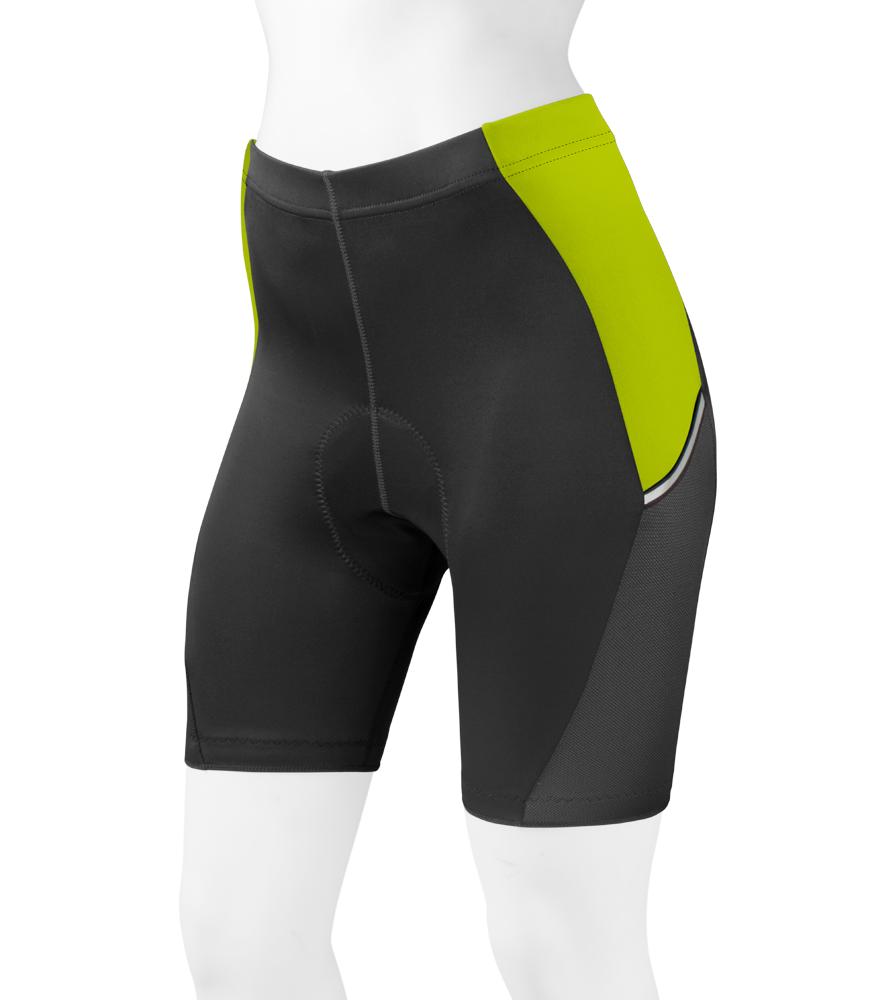 Women's Safety Yellow Luna Cycling Shorts