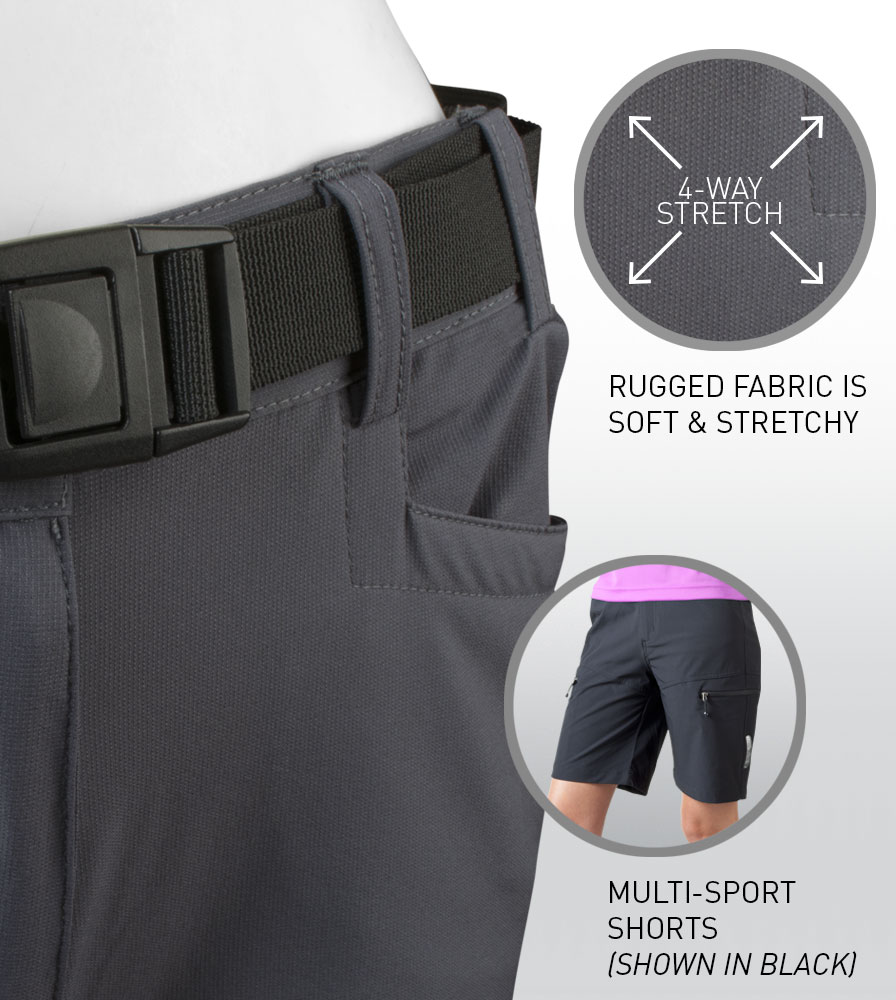 Women's Multi-Sport Shorts Fabric Features